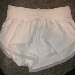 White LuluLemon Running Shorts